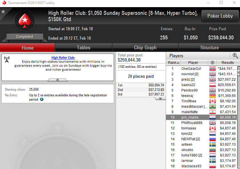 High Roller Club: Sunday supersonic